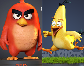 3D print model Angry Birds 2 - Red and Chuck