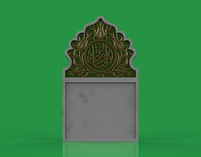 3D model islamic Memorial tombstone marble