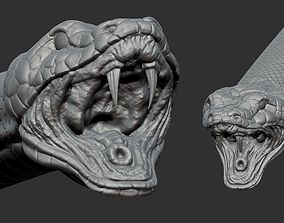 snake high 3D asset VR / AR ready