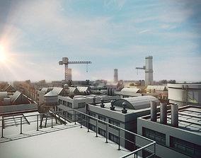 Industrial structures 3D model