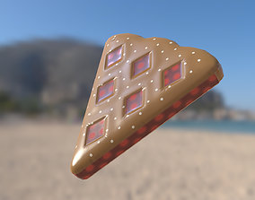 Inflatable water or pool toy Vlaai Dutch Cherry 3D model