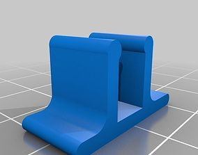 3D printable model Small clamp for fastening glass shelf