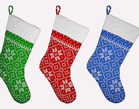 year Christmas Socks 3D