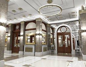 3D Classic Interior Hallway