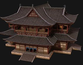 Ancient Chinese Shop Buildings with Internal 3D asset 1