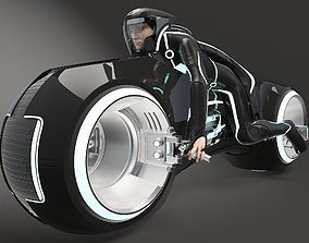 Tron Bike - Light Cycle 3D model rigged