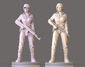 hot cop girl miniatures 3D printable model