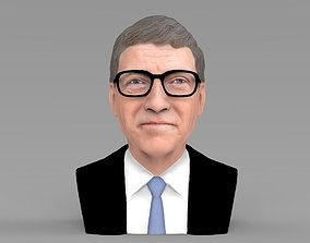 Bill Gates bust ready for full color 3D printing