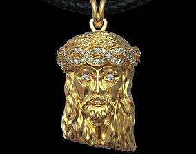 3D printable model JESUS CHRIST HEAD PENDANT NECKLACE