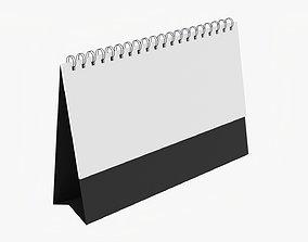 Desk calendar flip-top mockup 01 3D model