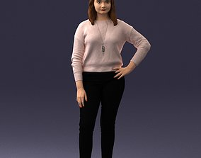 printable Girl in sweater 1224 3D Print Ready