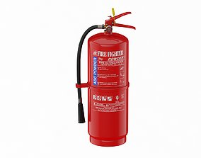 3D model Abc Powder Fire Extinguisher