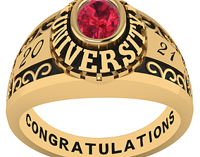Personalized Class Ring 11 - Celtic Oval 3D print model