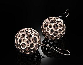3D print model Voronoi Earrings