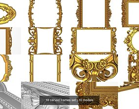 3D 10 carved frames set
