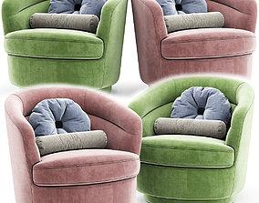 Viv Swivel Arm chair 3D
