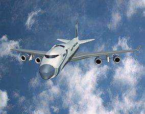 3D model Futuristic commercial jet concept