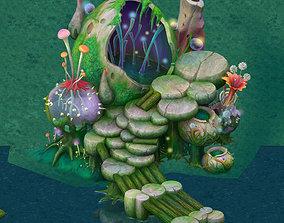 3D model Cartoon version - spore purgatory