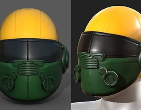 3D model Helmet plastic mask scifi military futuristic