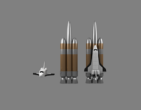 3D model VR / AR ready easy spaceshuttle Space Shuttle