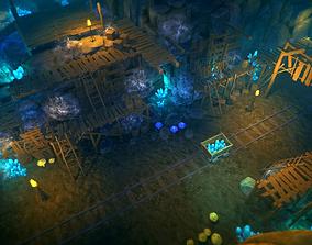 Top-Down Crystal Mine 3D asset