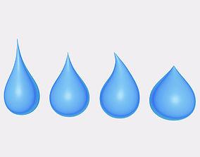 Water - Blood Drop 3D model