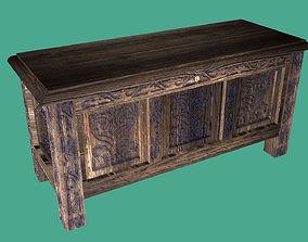 3D asset Coffer Antique Furniture