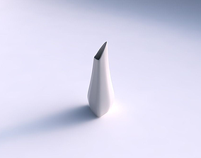 Vase puffy tipped triangle smooth 3D print model