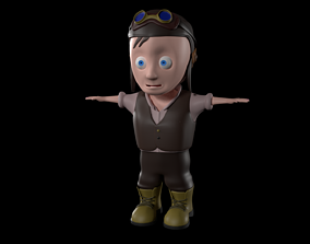 3D animated Engineer Boy Rig