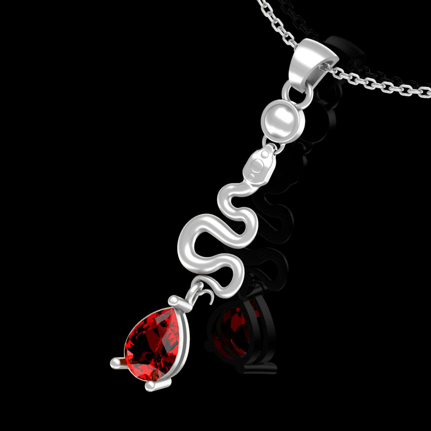 snake pendant jewelry necklace medallion diamond gold 3D print model