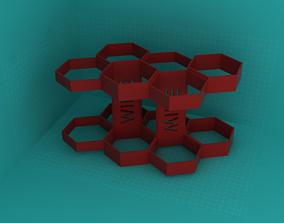 Wine rack - 6 bottles 3D print model