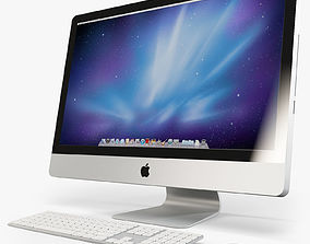 3D model Apple IMac 27 2010 - 2011 with Keyboard MB110 2