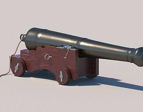 Ship cannon 3D asset