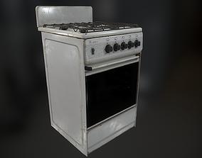 Gas Stove 3D asset VR / AR ready