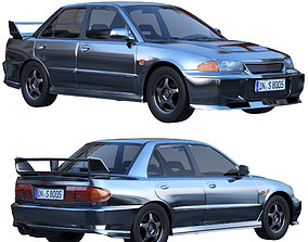 Mitsubishi Lancer Evolution III 3D asset VR / AR ready