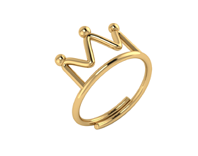 Simple ring model crown Basquiat style
