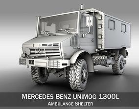 3D model Mercedes Benz Unimog U1300L - Ambulance Trailer