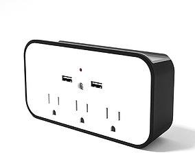 A USB and plug block 3d model electric