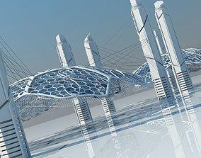Futuristic Architectural Structure 15 3D model
