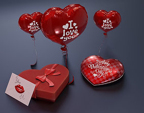 Valentines Day Collection 3D model day