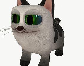 feline 3D model Cartoon Cat