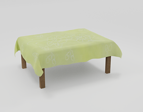 3D model low-poly Tablecloth
