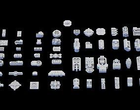 3D model Scifi Greeble Kitbash lowpoly