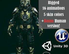 animated realtime 3D Battle suit Destroyer model