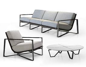 Holly Hunt Omura lounge armchair - Omura sofa - Meduse 3D