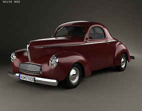 Willys Americar DeLuxe Coupe 1940 3D