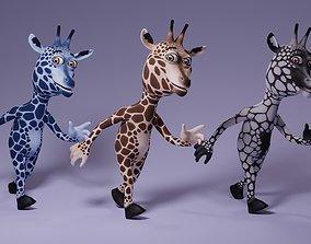 3D asset Toon Humanoid Giraffe