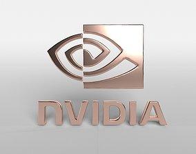 3D asset Nvidia Logo v1 004