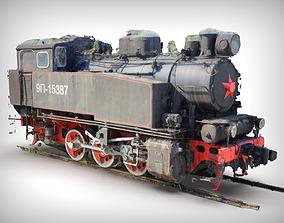 3D scan Industrial steam tank locomotive 9P