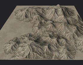 Desert Mountain Landscape 3D model